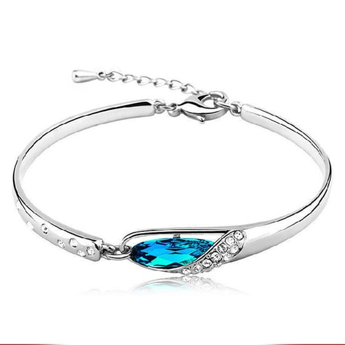Elegant Blue Zirkon Bangle