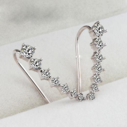 Elegant Cubic Zirconia Crystal Hook Earrings 1 Pair