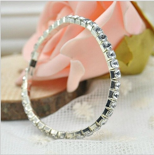 Magnificent Stretchable Shiny Crystal Bracelet 8 Pieces 2-min