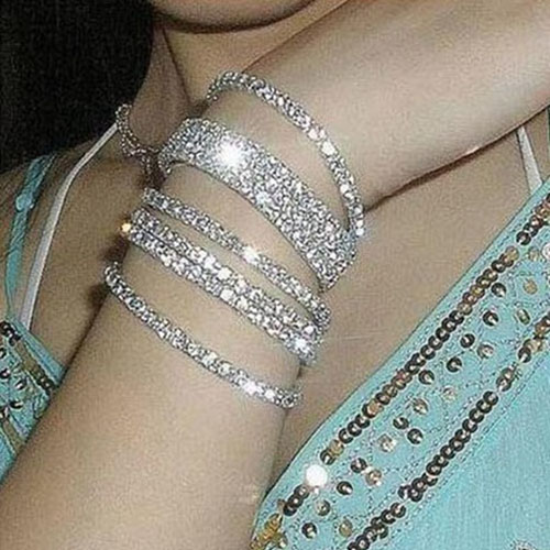 Magnificent Stretchable Shiny Crystal Bracelet 8 Pieces