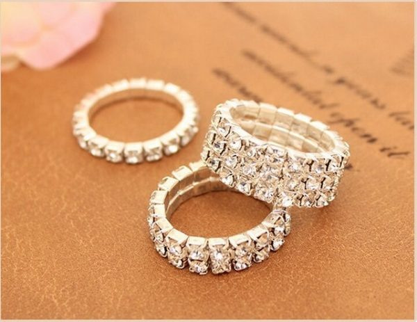 Sparkly Angel's Dream AAA CZ Stretchable Crystal Ring